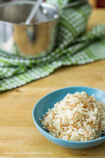 Recette de riz libanais. | lavietoutsimplement.com #recette #riz
