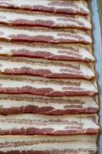 Bacon au four - pas encore cuit