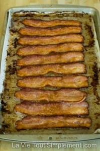Bacon au four - cuit