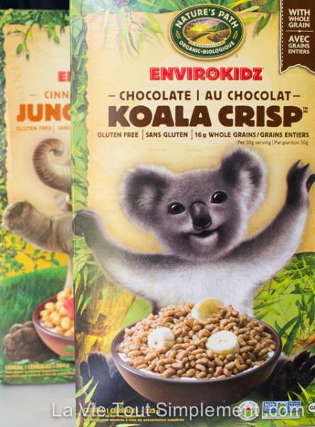 Enviro Kidz par Nature's Path - Céréales sans gluten - Koala Crisp et Jungle Munch