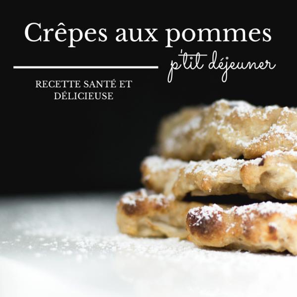 Crêpes aux pommes, yogourt grec et blé entier - Recette sur www.lavietoutsimplement.com