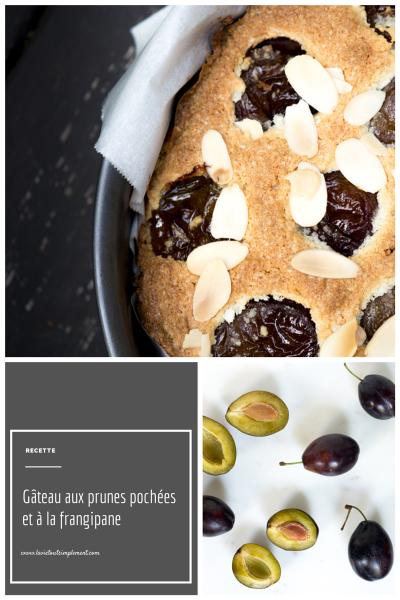 Gâteau aux prunes pochées et à la frangipane - Recette via LaVieToutSimplement