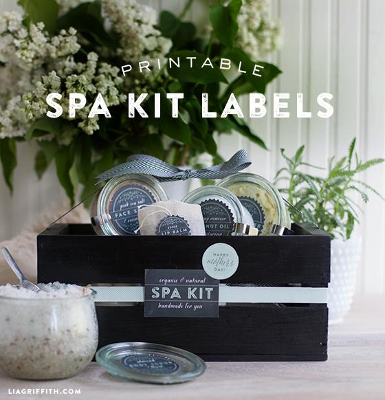 Un kit de spa, produits maison et étiquettes - #IdeesCadeaux #DerniereMinute #DIY - www.lavietoutsimplement.com