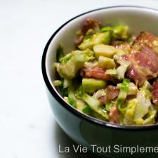 Recette choux de Bruxelles poêlés - #CuisinezAvecCampbell #ad - www.lavietoutsimplement.com