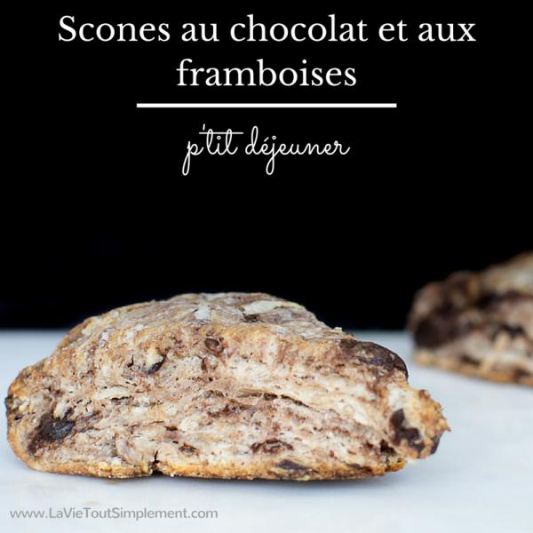 Recette de scones au chocolat et framboises | www.LaVieToutSimplement.com