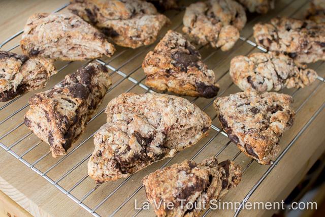 Recette de scone au chocolat et framboises | www.LaVieToutSimplement.com