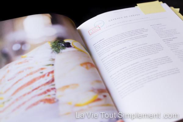 Nouveau livre : Chefs de famille. Des recettes et portraits de personnalités gourmandes québécoises. Bonus, une #recette de gâteau de crêpes au saumon fumé | lavietoutsimplement.com