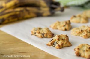 Biscuits aux céréales de bébé, bananes et pépites de chocolat | lavietoutsimplelment.com #recette #biscuits #collation