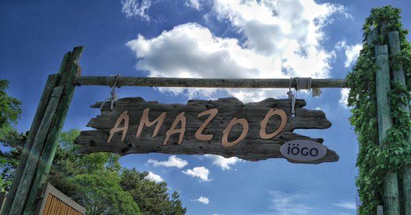 L'entrée du parc aquatique Amazoo du zoo de Granby | Nouvelles glissades d'eau et une rivière aventure revampée pour l'été 2016